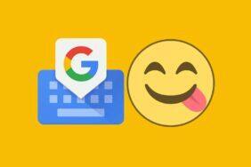 gboard lišta emoji
