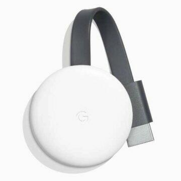 google chromecast 3 white