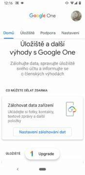 Google One zalohovani zdarma domu