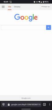 google vyhledavani nova verze firefox prohlizece