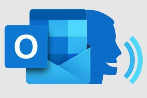 hlasité čtení Outlook Android