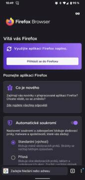 nova verze firefox uvodni obrazovka