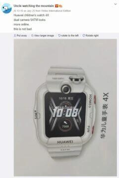 Nové hodinky Huawei Children's Watch 4X unikla fotografie