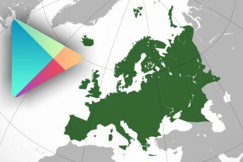 Obchod Play aplikace v Evropě