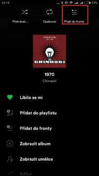 pořadí skladeb playlist spotify