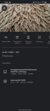 úspora místa fotografování natáčení porovnání 12 Mpx foto