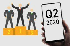 prodejnost mobilů Q2 2020 Canalys
