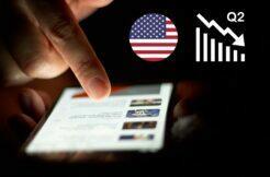 propad prodejů mobilů USA Q2