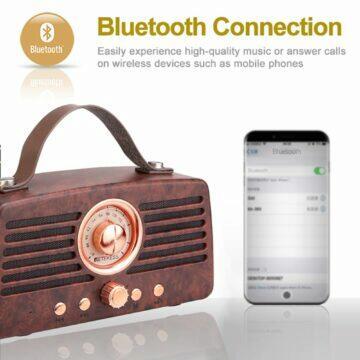 mobilní sluchátkový předzesilovač Retro rádio Retekess TR607 bluetooth