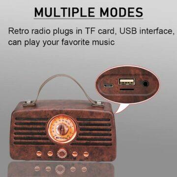 mobilní sluchátkový předzesilovač Retro rádio Retekess TR607 konektory
