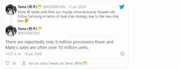 různé procesory Huawei spekulace