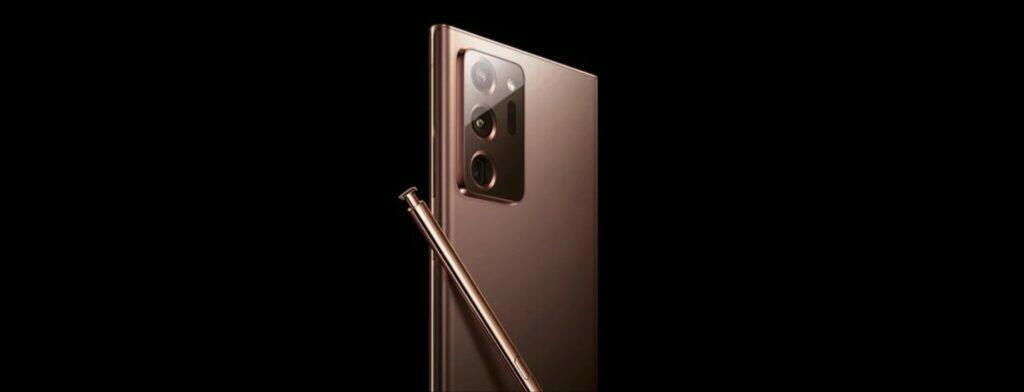 Samsung Galaxy Note20 Ultra Mystic Bronze bok záda