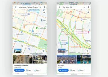 semafory v Google Mapách novinka