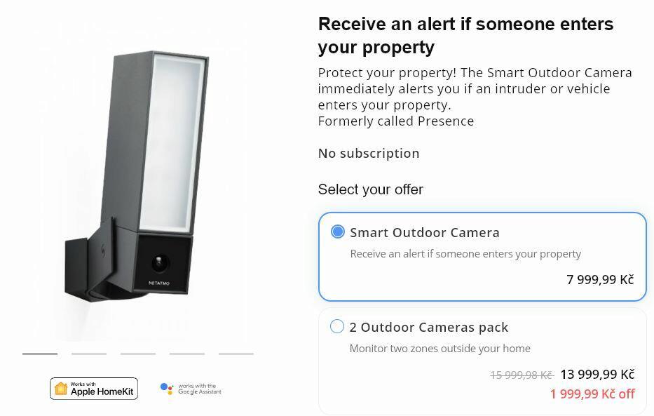 venkovní kamera Netatmo cena e-shop