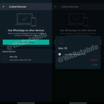 whatsapp na více zařízeních připojená zařízení screenshot