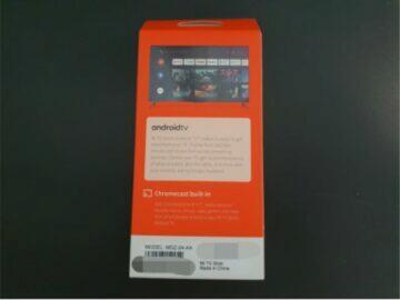 Xiaomi Mi TV Stick balení zadní strana
