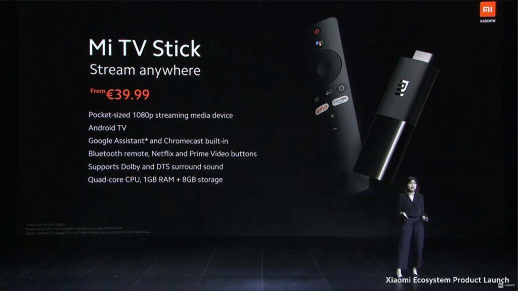 Xiaomi Mi TV Stick globální představení evropská cena