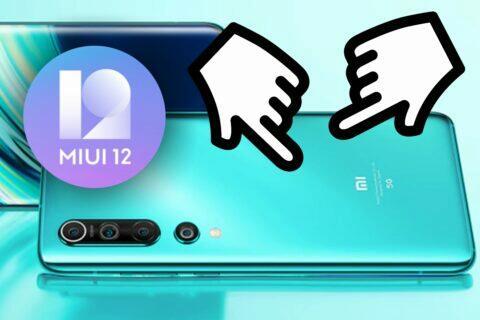 Xiaomi MIUI 12 gesta na zádech