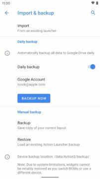 záloha na Google Disk