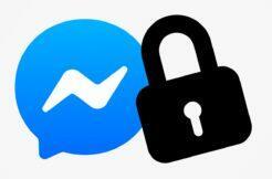 zámek aplikace Messenger