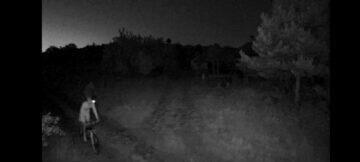 záznam cyklisté noc