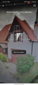 Live View Google Mapy určování polohy zjistovani polohy