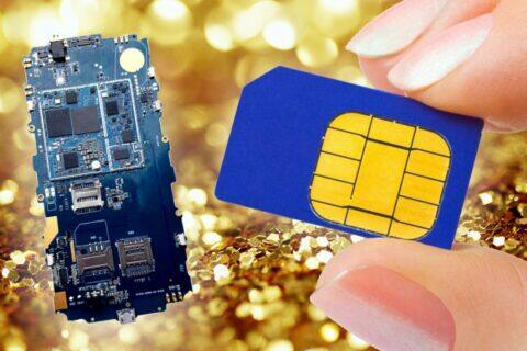zlato-sim-karty-plosne-elektronicke-panely-telefony