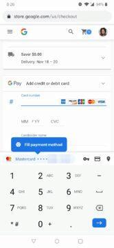 Android 11 automatické vyplňování kreditka