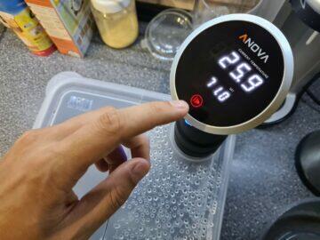 Anova Precision Cooker manuální nastavení teploty