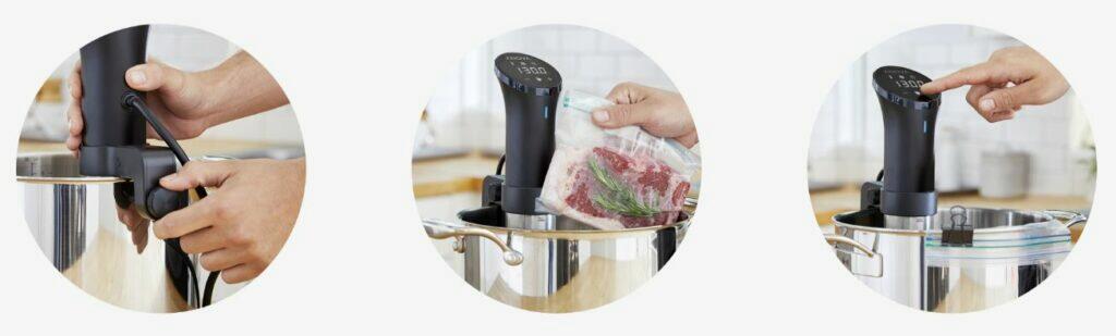 Anova Precision Cooker uchycení ovládání