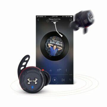 Bezdrátová sluchátka JBL UA True Wireless FLASH přehrávání