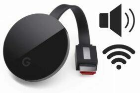 Chromecast hlasitost WiFi