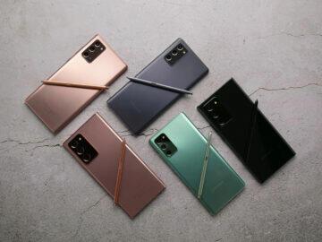 Galaxy Note 20 barvy
