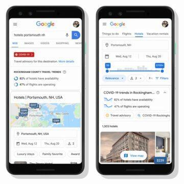 Google planovani cesty COVID-19