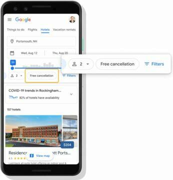 Google zruseni rezervace hotelu