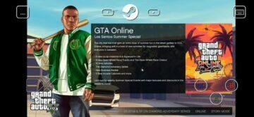 GTA 5 Steam Link Android menu