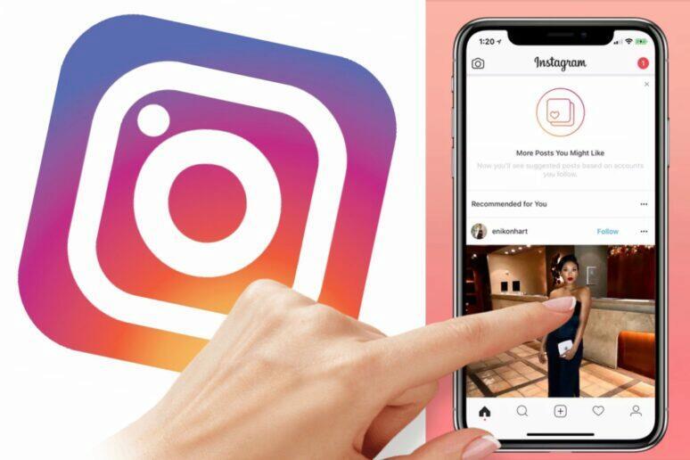 Instagram příspěvky na konci feedu