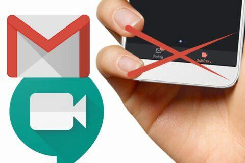 jak vypnout panel meet schůzky v gmailu