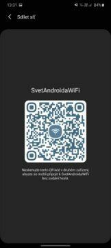 jak zjistit WiFi heslo v Androidu QR kód