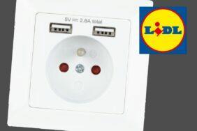 LIDL zásuvka s USB konektory
