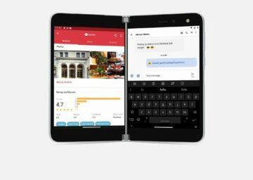 Microsoft Surface Duo rozdělené obrazovky