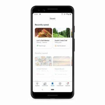 Google Mapy Uloženo nedávno uložená místa