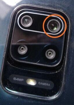 Netěsnící sklíčko fotoaparátu Redmi Note 9