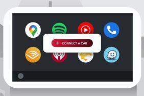nové připojovací menu Android Auto