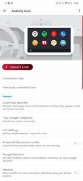 nové připojovací menu Android Auto nový vzhled
