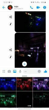 odeslání fotky Messenger
