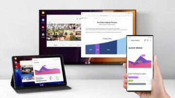 Samsung DeX bezdrátové připojení Galaxy Note20 Tab S7