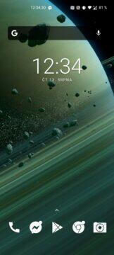 Saturn tapeta Xiaomi Mi 10 Ultra horizontální