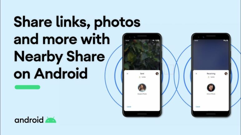 Share links, photos and more with Nearby Share on Android