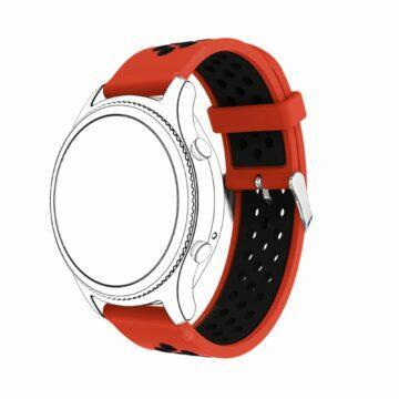 Silikonové 22mm řemínky pro hodinky červená černá